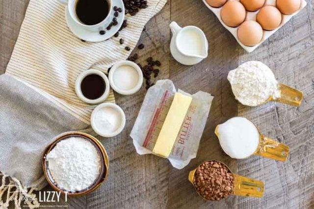 ingredients for Mocha Whoopie Pies