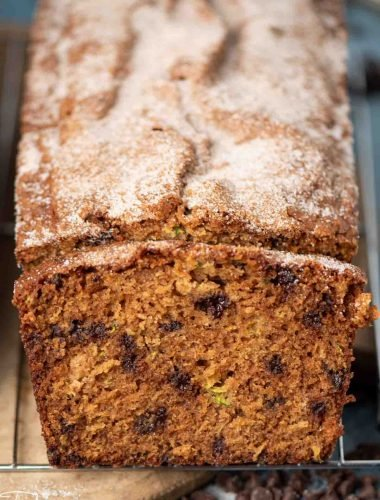 loaf of amish friendship zucchini bread