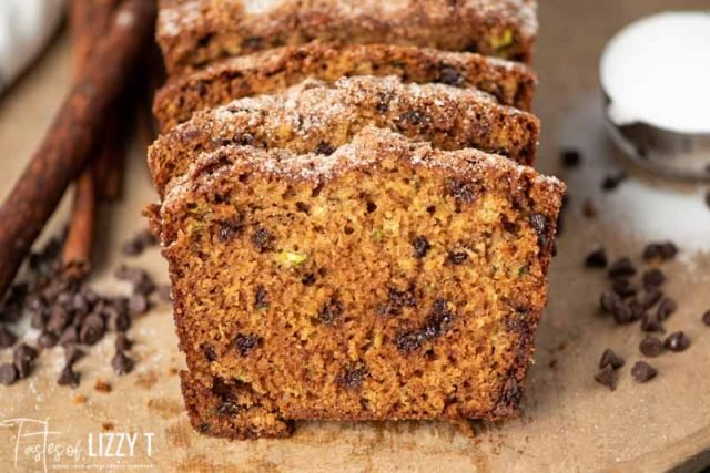 slices of amish friendship zucchini bread