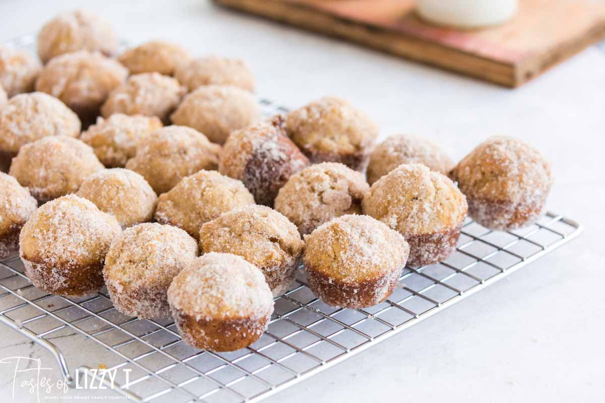 wire rack of brown butter muffins