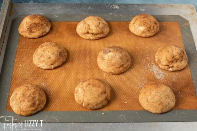 baked chai sugar cookies on a pan