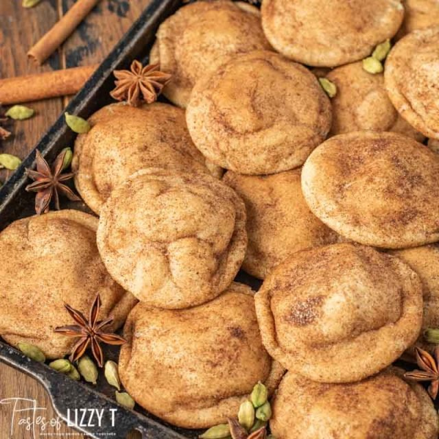 pile of chai spiced snickerdoodles