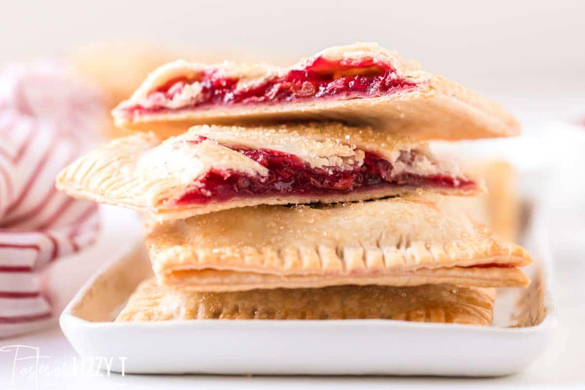 stack of cherry hand pies