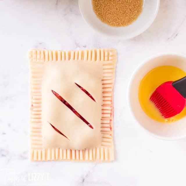 unbaked cherry hand pie