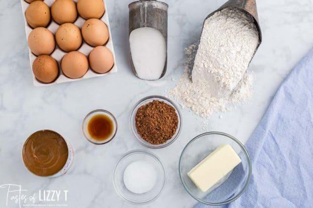 ingredients for mini brownies