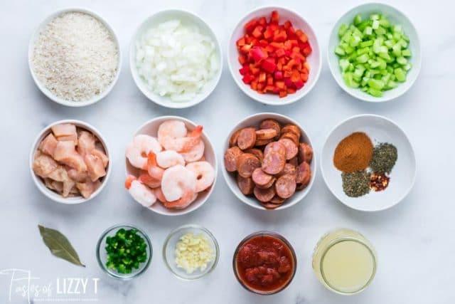 ingredients for jambalaya recipe
