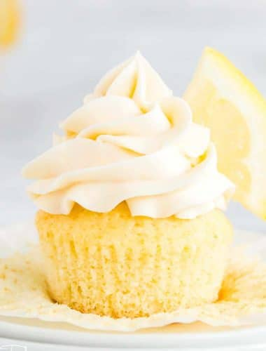 unwrapped homemade lemon cupcake