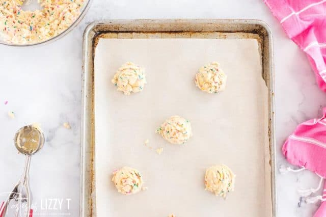 unbaked funfetti cookies