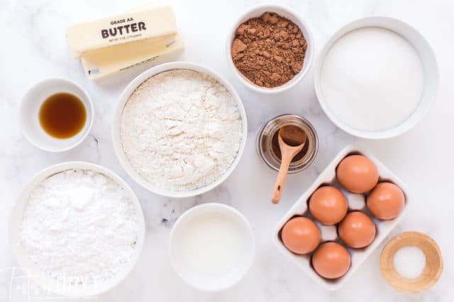ingredients for brownies