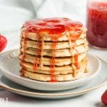 stack of peanut butter & jelly pancakes