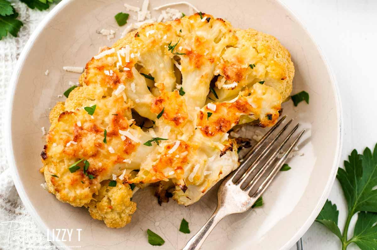 roasted cauliflower on a plate