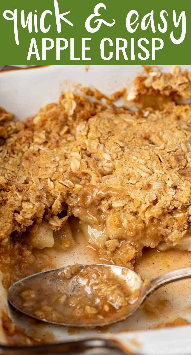 Everyone needs this easy apple crisp recipe! Originally called Amish Apple Goodie, you'll fall in love with it's oatmeal streusel topping and 1-bowl cleanup. via @tastesoflizzyt