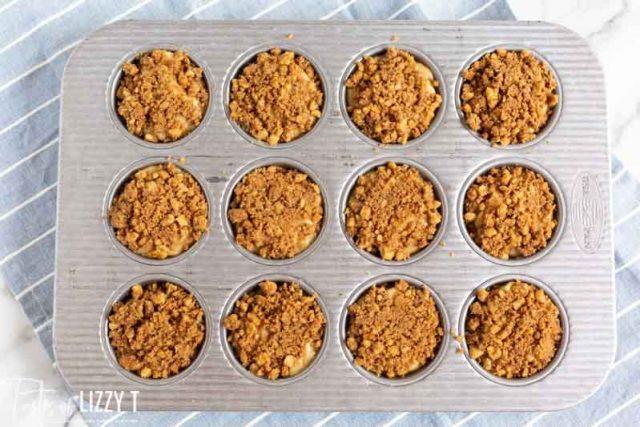 unbaked caramel apple buttermilk muffins