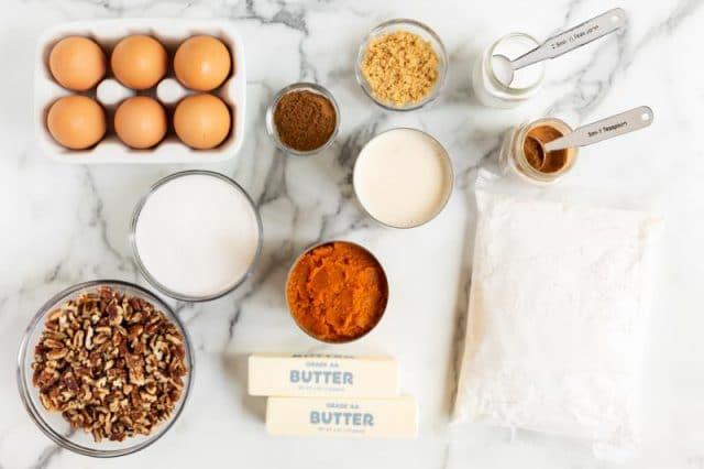 ingredients for pumpkin dump cake
