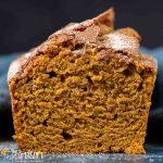 cut loaf of pumpkin bread