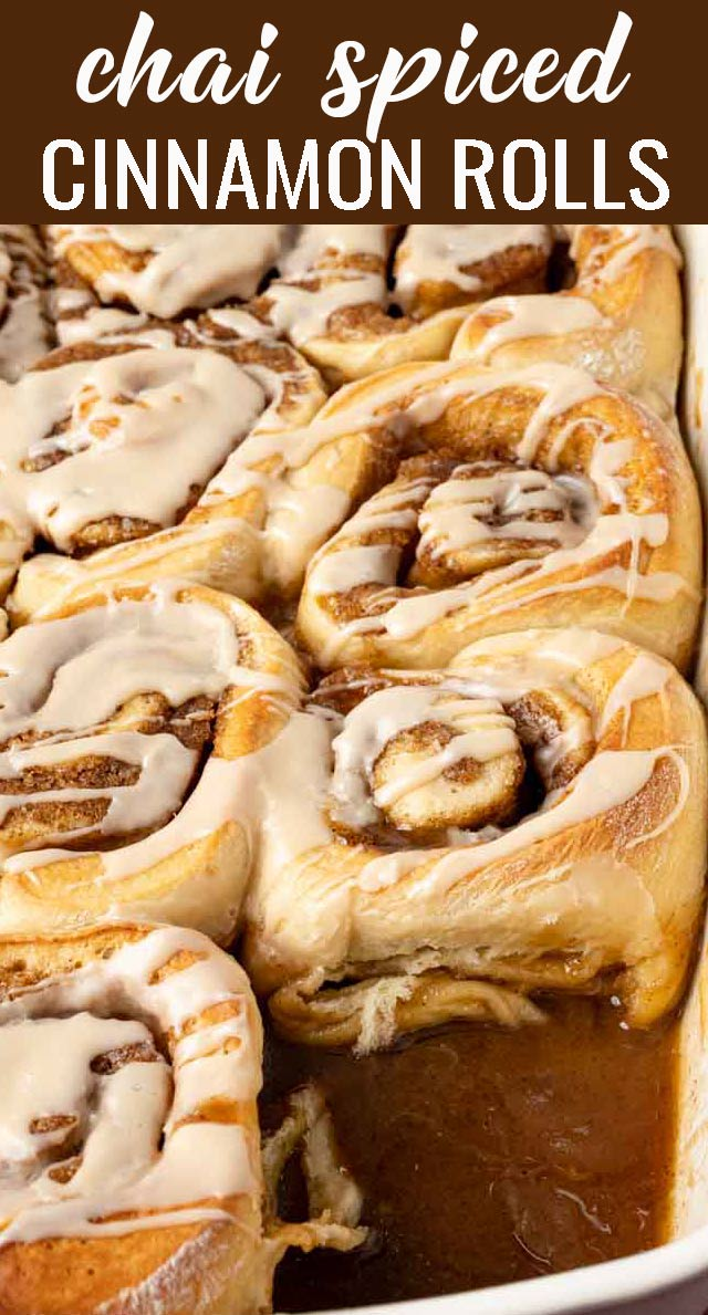 Classic sweet rolls with a spicy twist! Homemade spiced Chai Cinnamon Rolls with chai tea glaze for a sweet start to the day. via @tastesoflizzyt