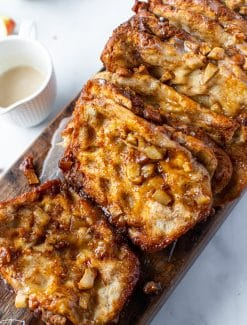 loaf of caramel apple pull apart bread