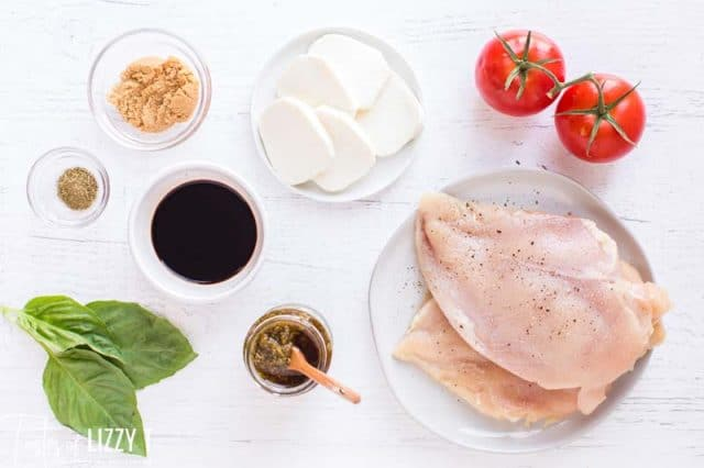 ingredients for caprese chicken