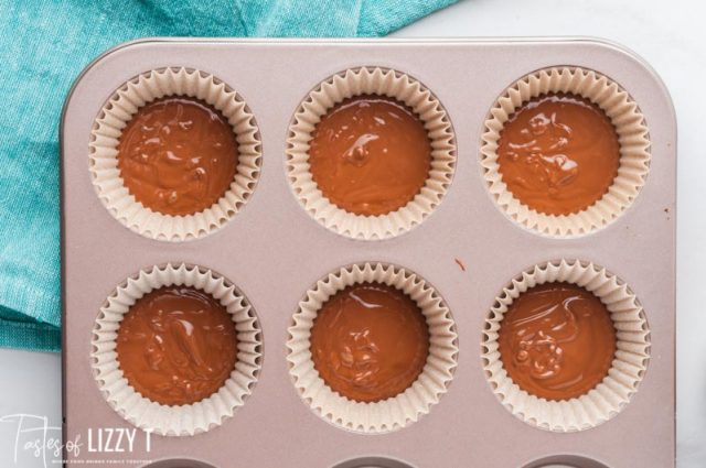 chocolate in muffin pans