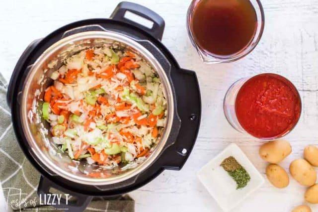 veggies in instant pot