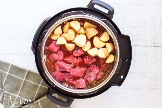 potatoes and beef in instant pot
