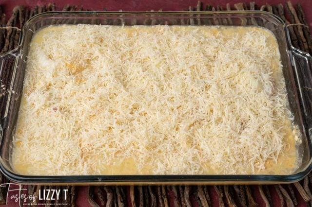 unbaked cheesy chicken casserole
