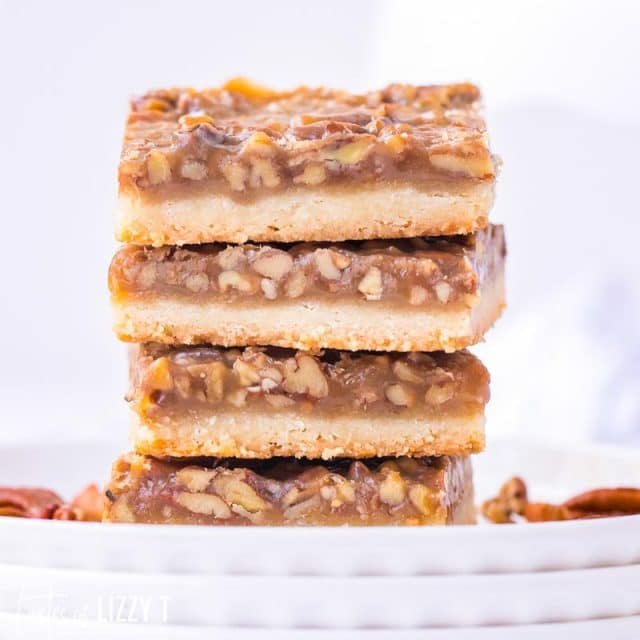 stack of 4 pecan pie bars