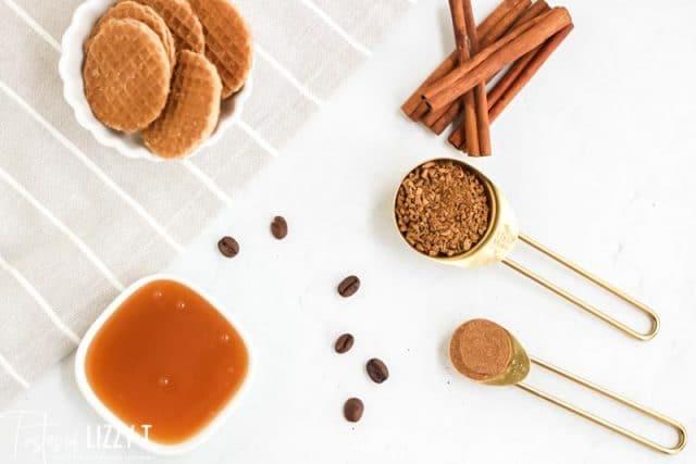 ingredients for pumpkin spice dalgona coffee