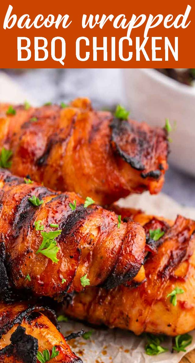 Grilled chicken marinated in barbecue sauce and wrapped in savory bacon. Can fit paleo, gluten free and sugar free diets. via @tastesoflizzyt