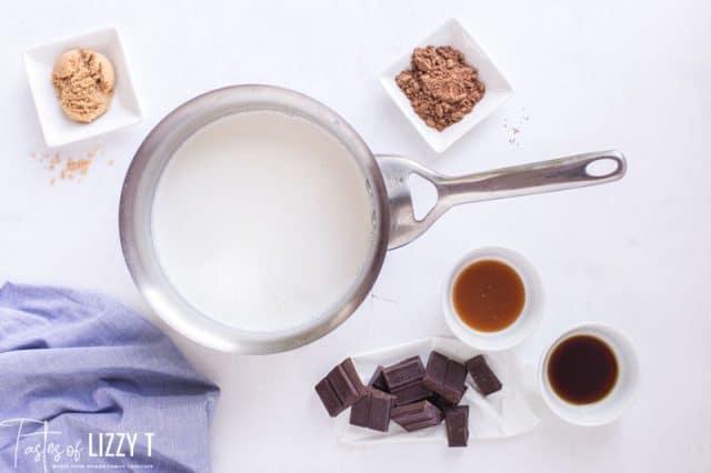 milk in a saucepan