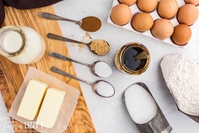 ingredients for glorified gingerbread cake