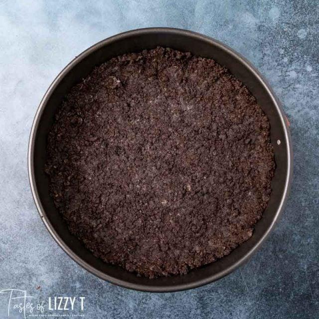 oreo crust in springform pan