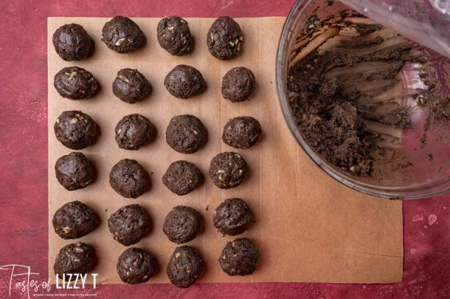 oreo truffle balls rolled and on a table
