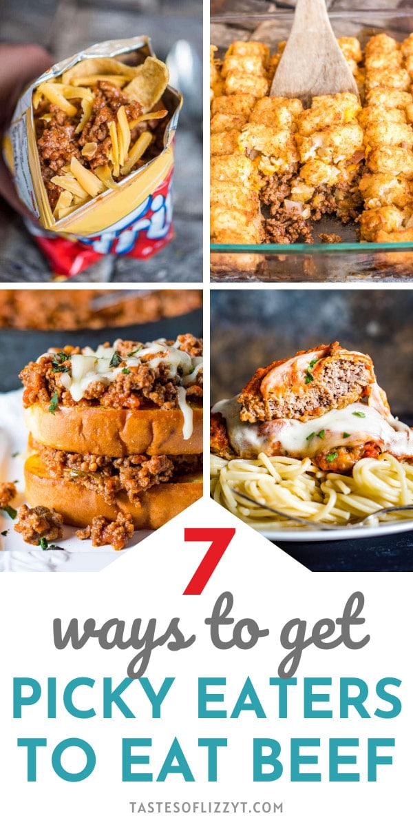 Learn 7 tips for how to get picky eaters to eat beef! From creativity to presentation and cooking hints, you'll be certain to find something new to try. via @tastesoflizzyt