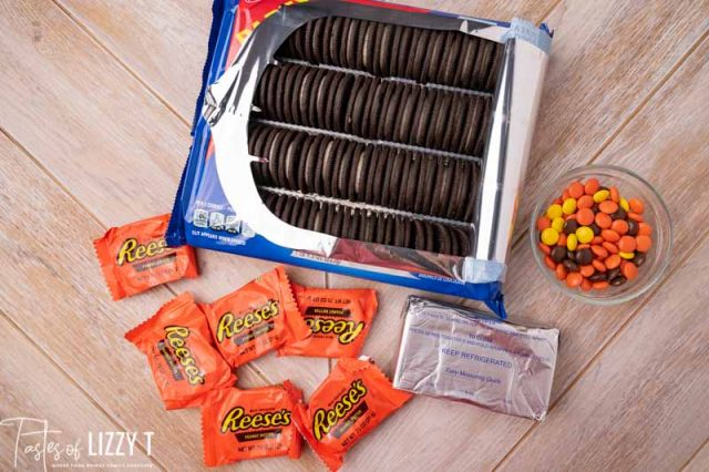 ingredients for reese's truffles on a table