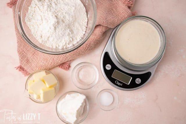 ingredients for sourdough pie crust