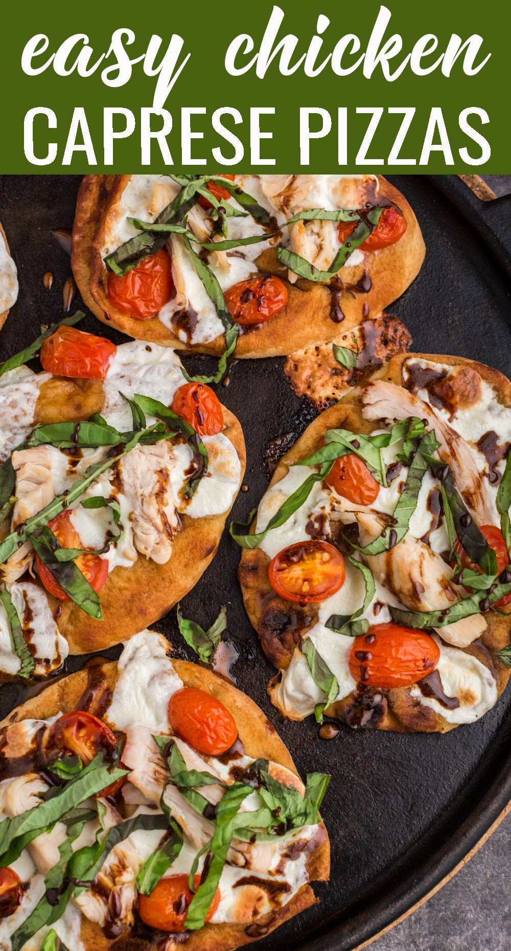 If you like the amazing flavors of fresh tomatoes, mozzarella and basil, then you'll LOVE this chicken caprese pizza. Made on Naan bread, and topped with chicken and all your Caprese favorites, this pizza is the ultimate in flavor and freshness! via @tastesoflizzyt
