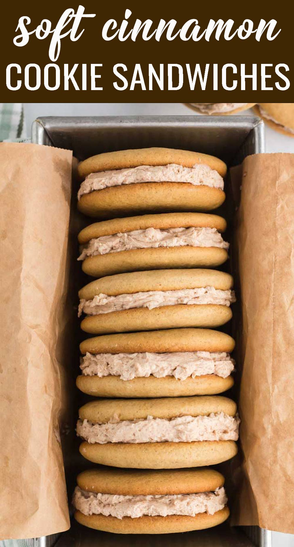 Cinnamon Buttercream Cookie Sandwiches... You'll fall in love with these soft, cinnamon cookies with a melt-in-your-mouth cinnamon buttercream stuffed inside. Make these bite size or make them bigger, but just be sure to make them! via @tastesoflizzyt
