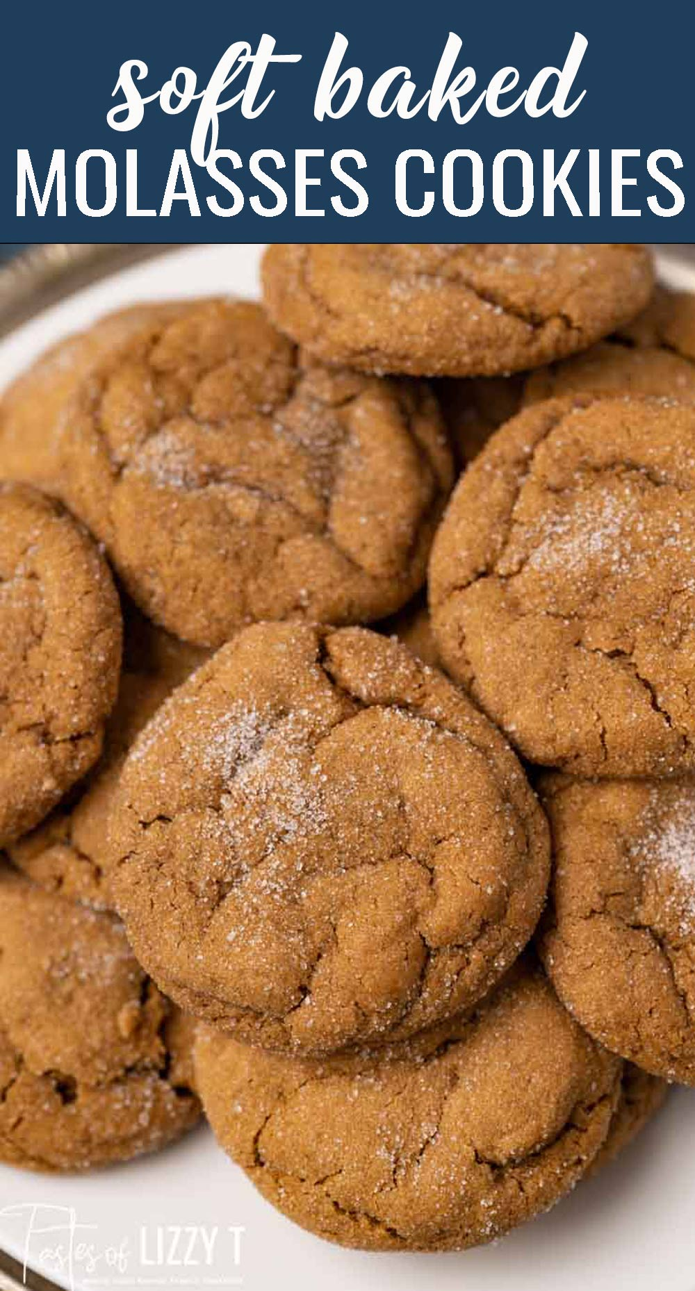 Molasses Cookies Recipe Soft Baked Ginger Christmas Cookies