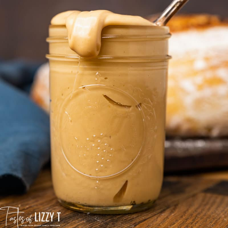 amish peanut butter spread in a jar