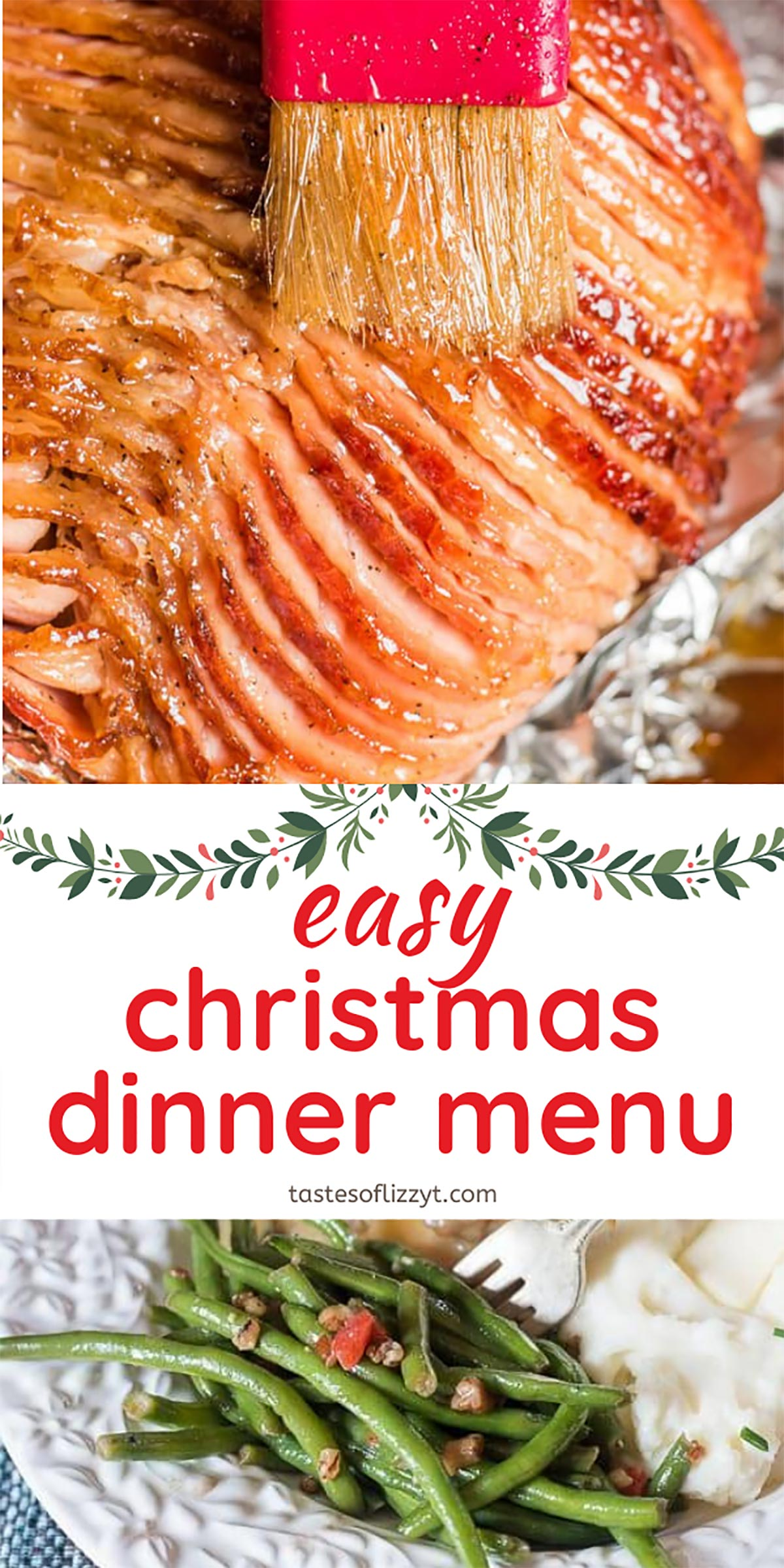 How to plan an easy Christmas dinner menu that the whole family will love! Plus tips on how to get it all done so you day can be relaxing. via @tastesoflizzyt