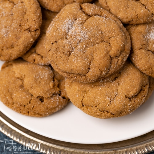 molasses cookies on a plate