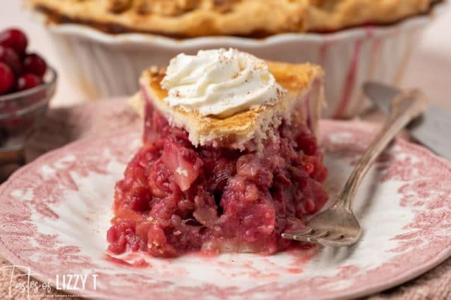 a piece of pie on a plate with one bite missing
