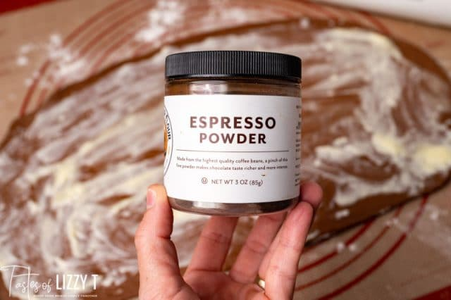 a jar of espresso powder