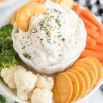 cream cheese cracker and veggie dip