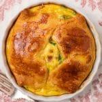 closeup of an egg souffle