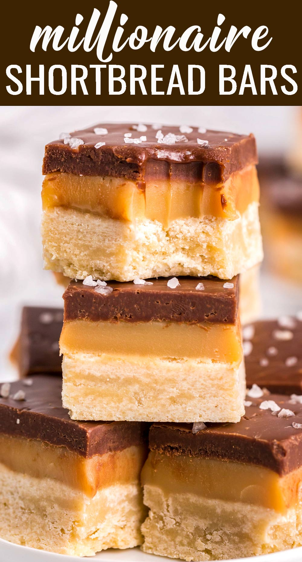 The ultimate in richness, these 3 layer Caramel Millionaire Bars are like no other dessert! Perfect for those who have a big sweet tooth. via @tastesoflizzyt