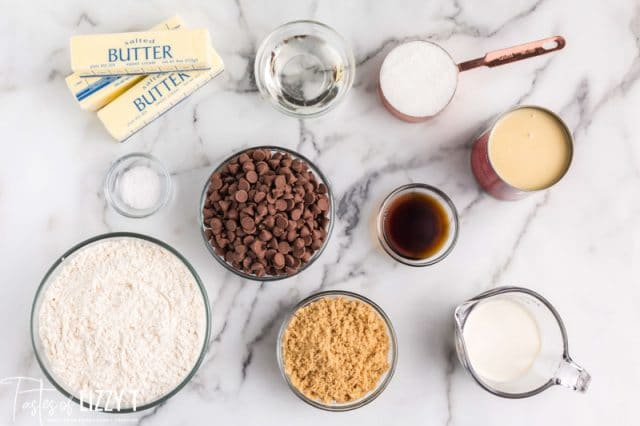 ingredients for millionaire bars