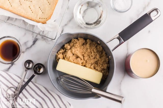 butter and brown sugar in a mixing bowl