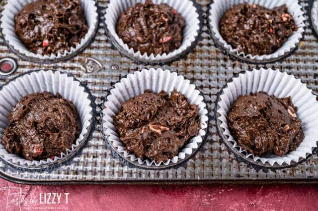 unbaked peppermint mocha muffins